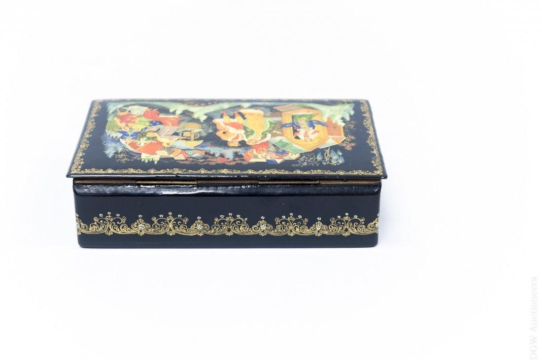 Volkov Palekh Russian Lacquer Box. - 3