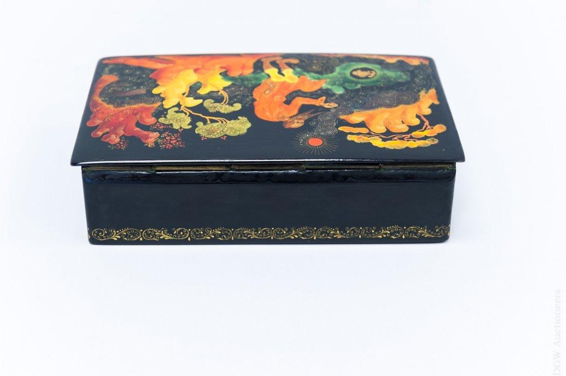 Palekh Russian Lacquer Box. - 3