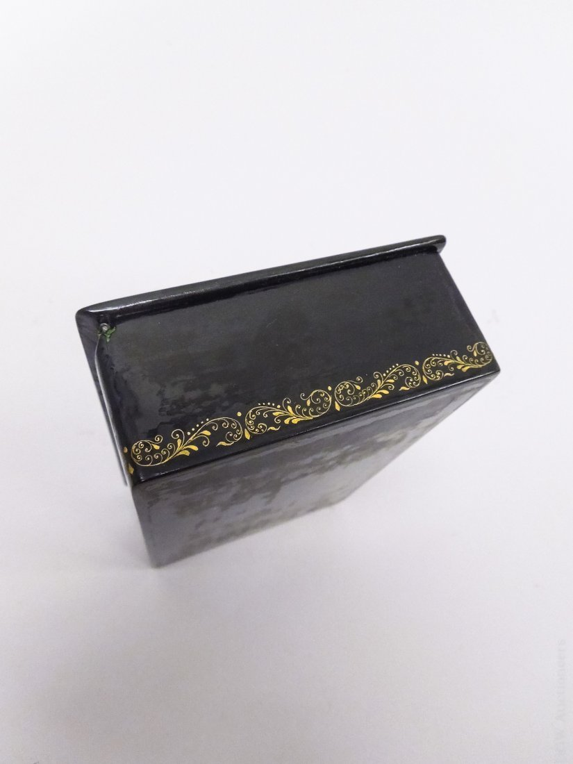 Palekh Russian Lacquer Box. - 4