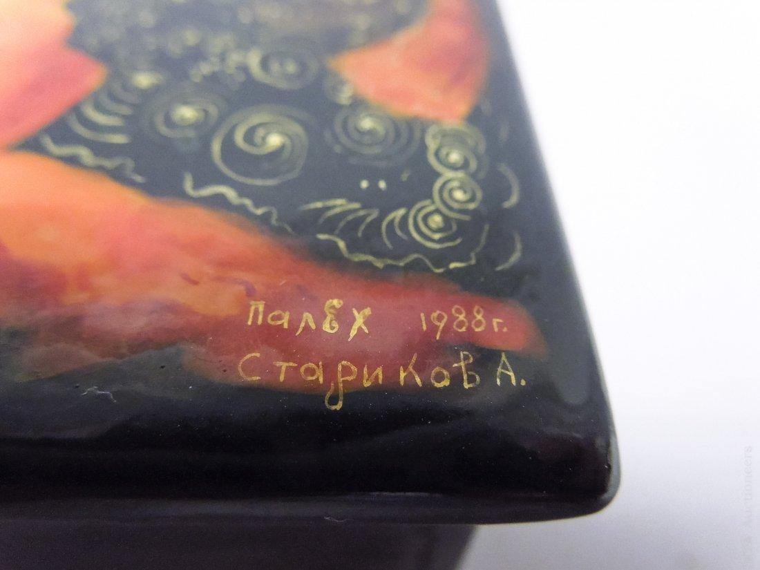 Palekh Russian Lacquer Box. - 6