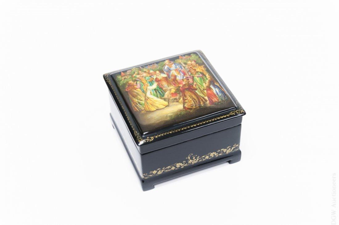 Fedoskino Russian Lacquer box, Enchanted Pony.