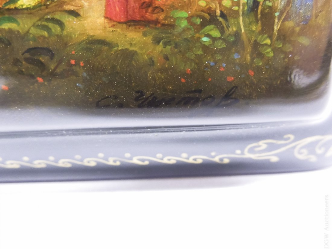 Fedoskino Russian Lacquer box, Enchanted Pony. - 7