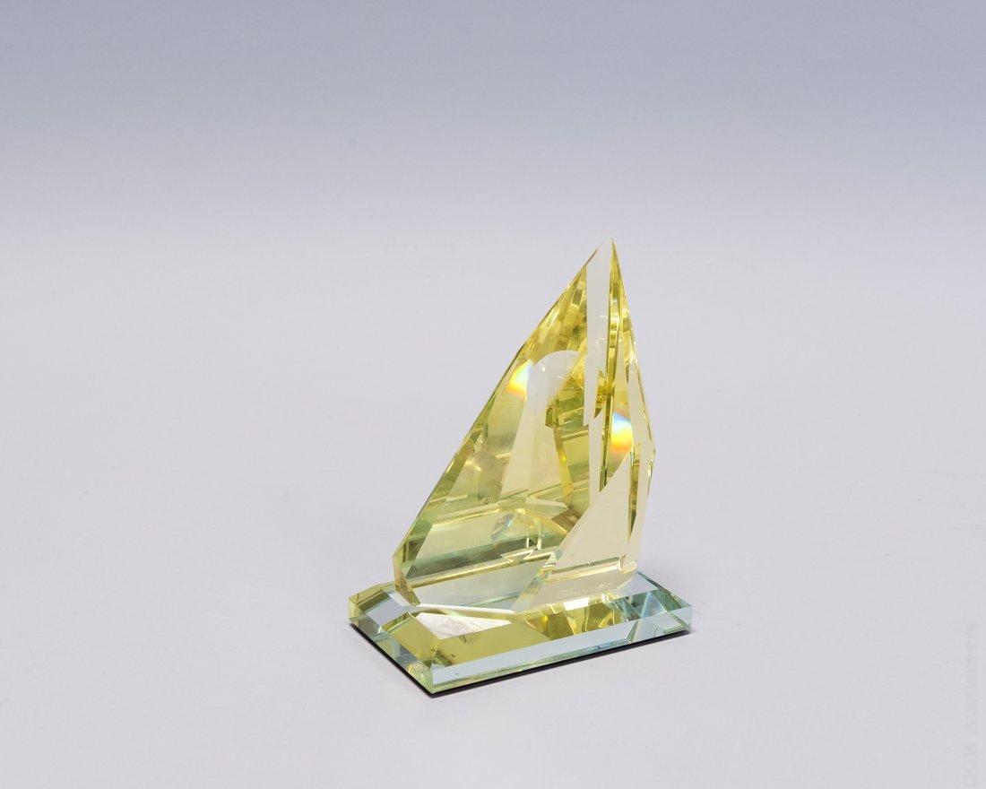 (2) Art Glass Helio Geometric Sculptures. - 2