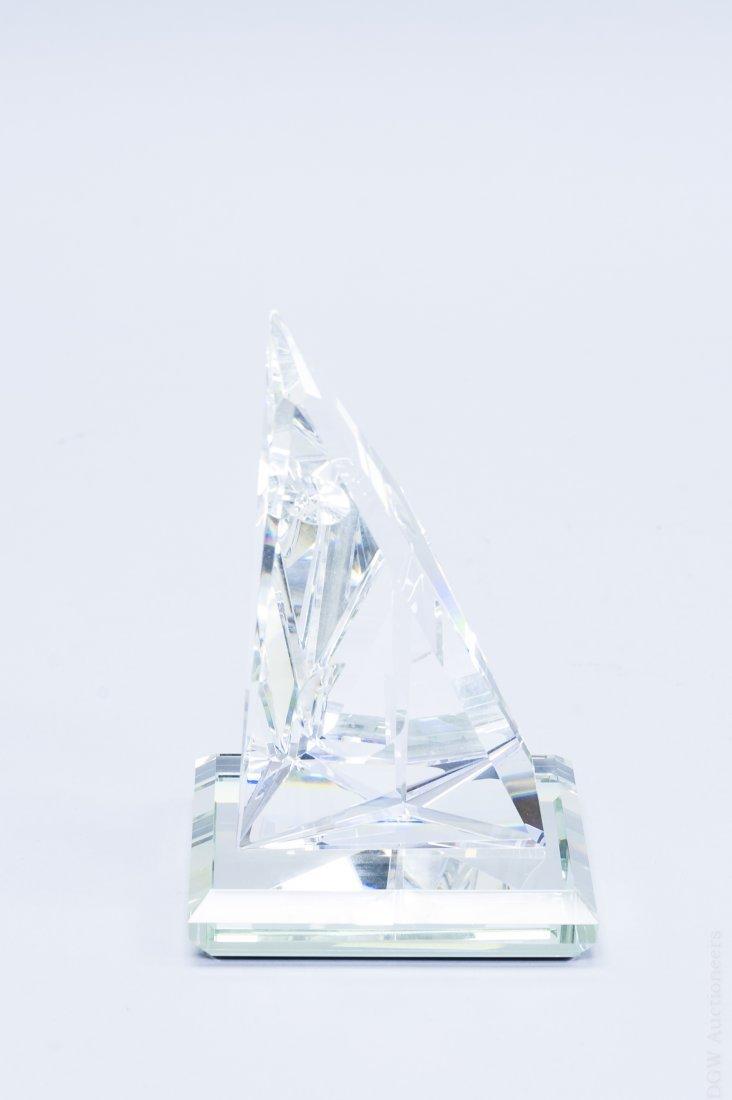 (2) Art Glass Helio Geometric Sculptures. - 6