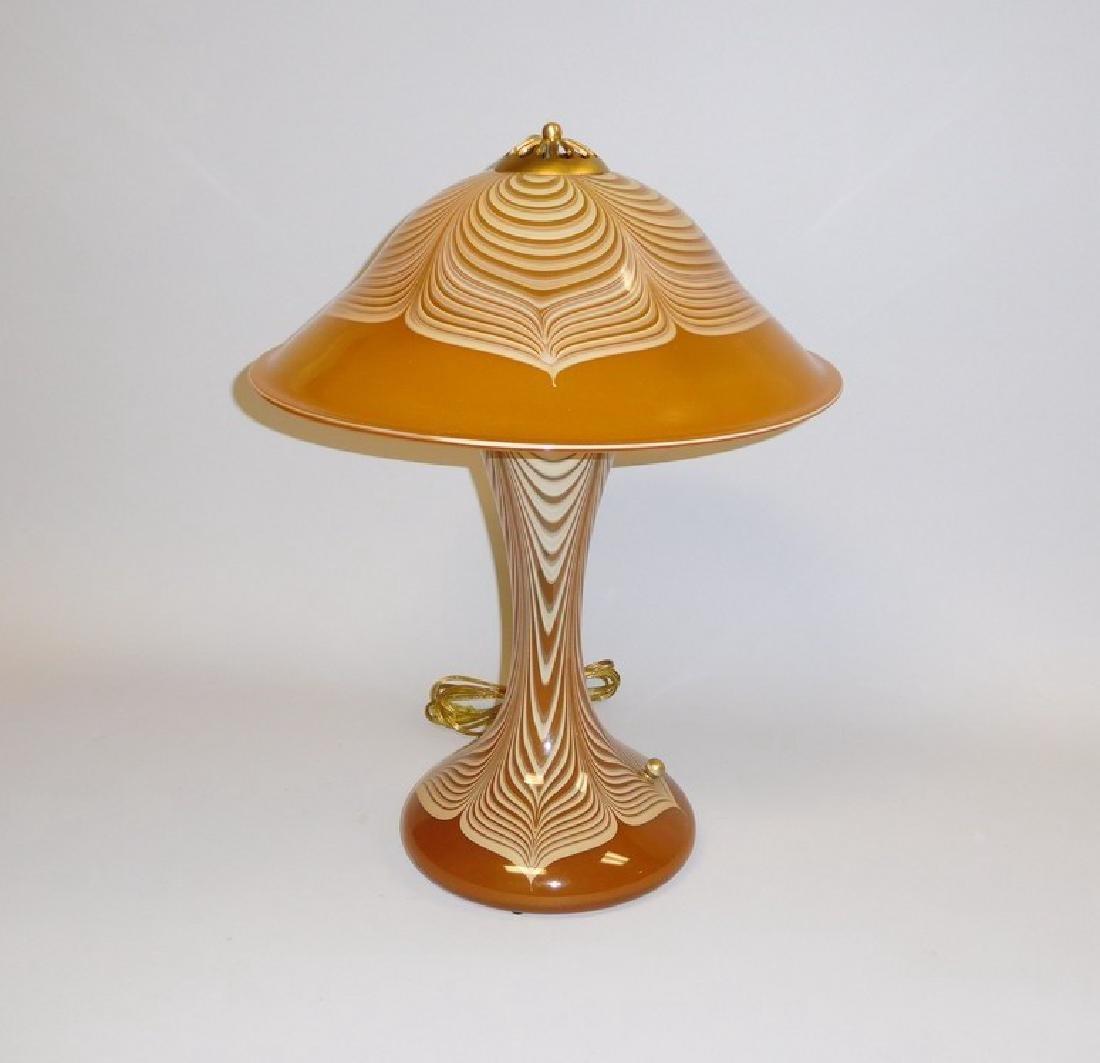 Abelman Art Glass Table Lamp.