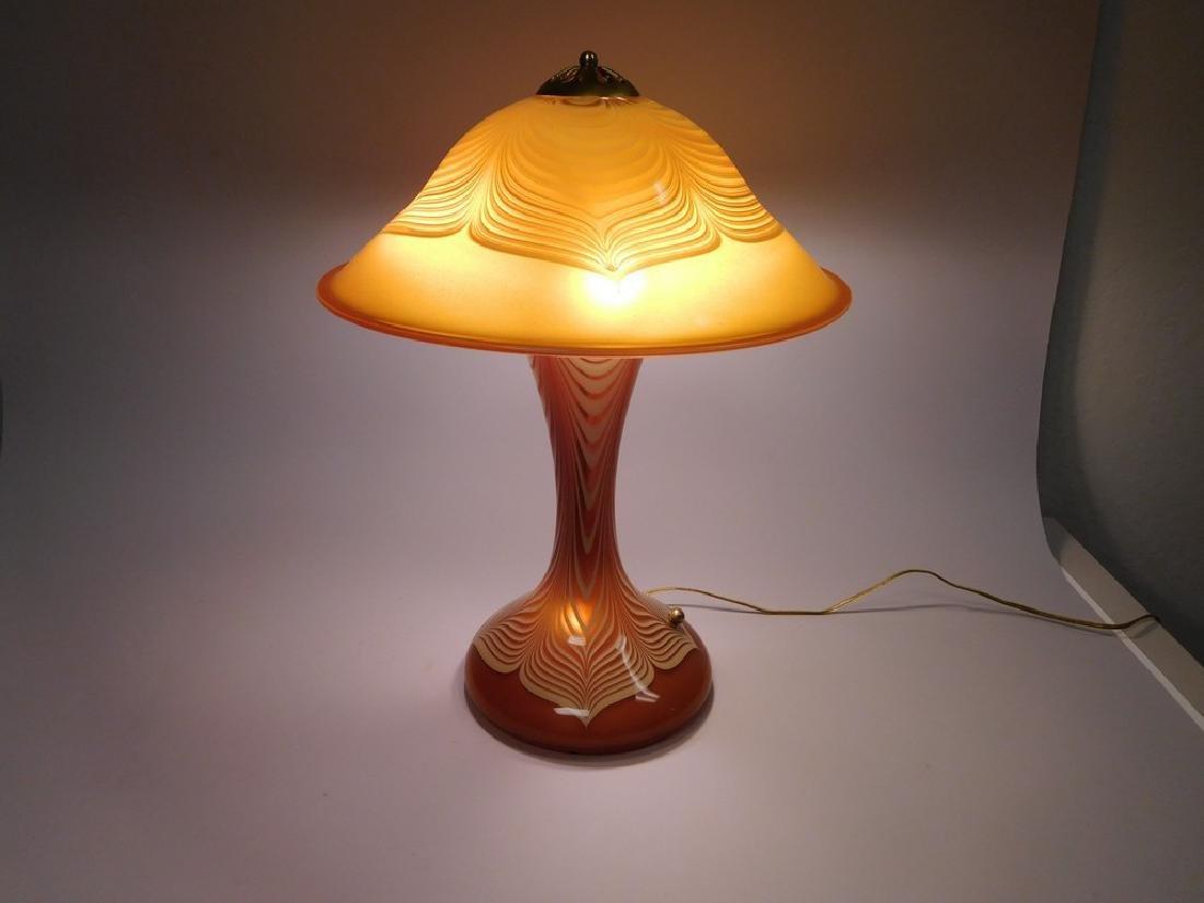 Abelman Art Glass Table Lamp. - 2