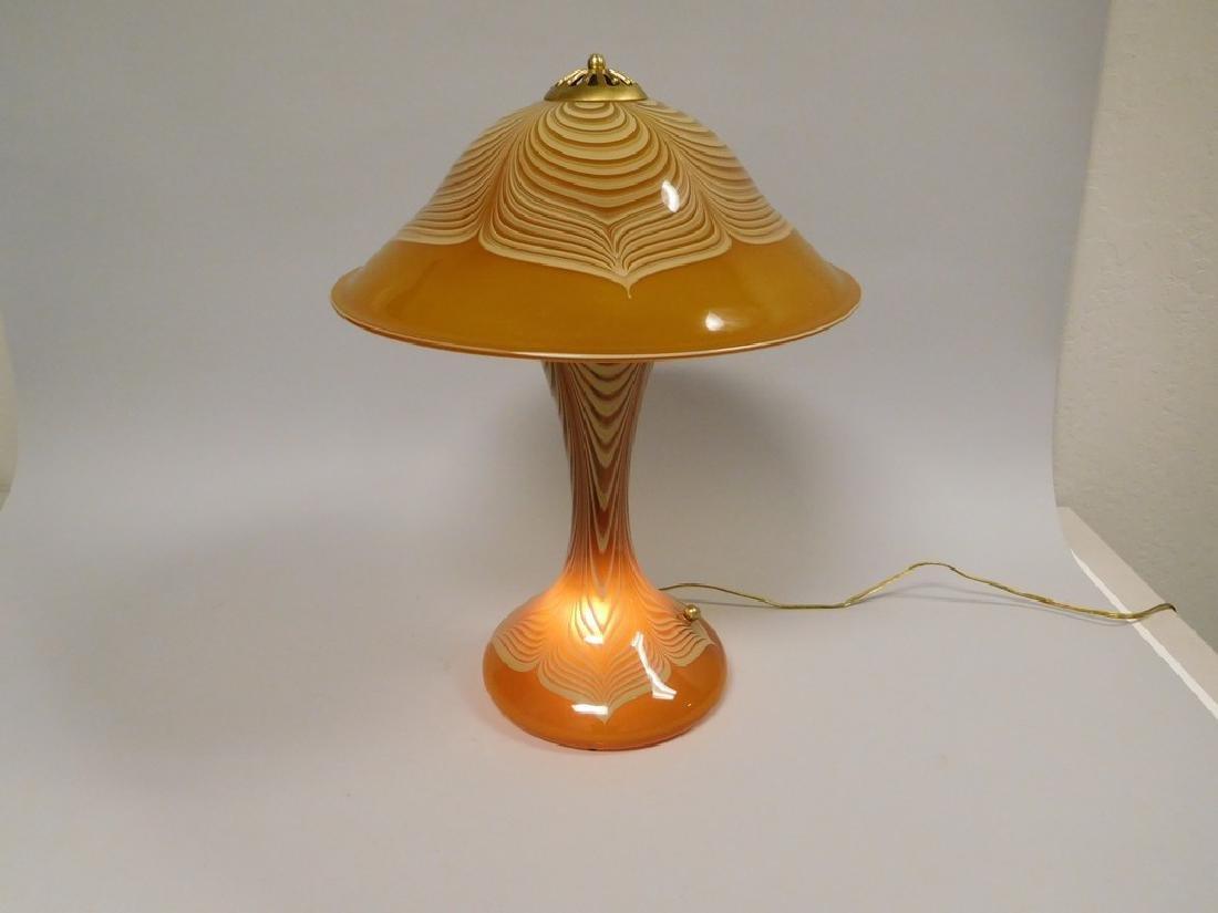 Abelman Art Glass Table Lamp. - 3