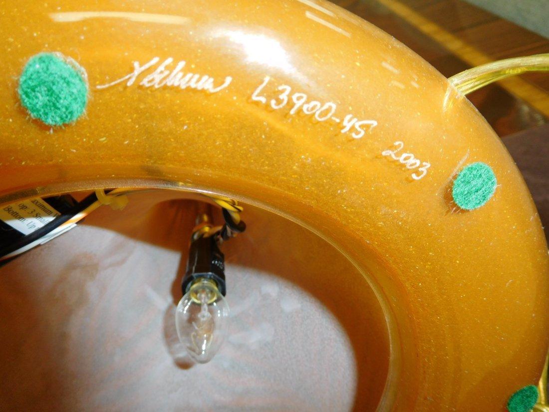 Abelman Art Glass Table Lamp. - 4