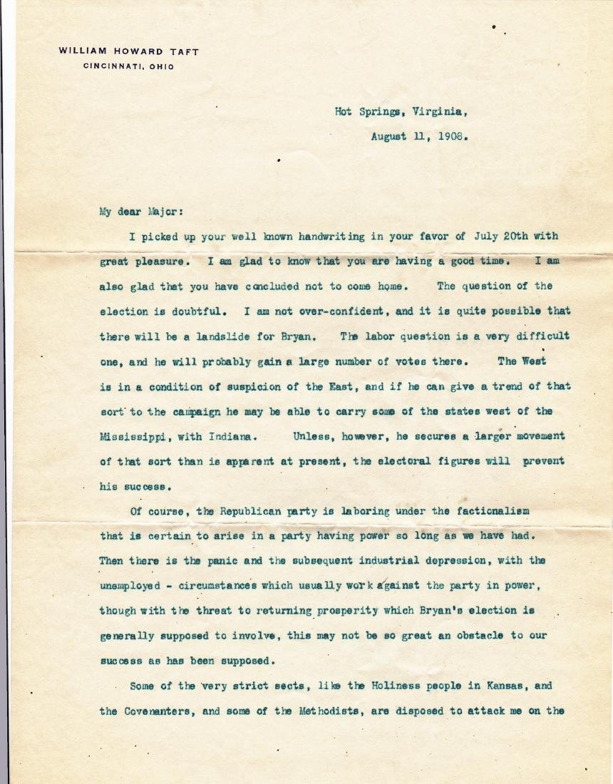 (3) Letters: William Howard Taft to Harlan Page Lloyd. - 2