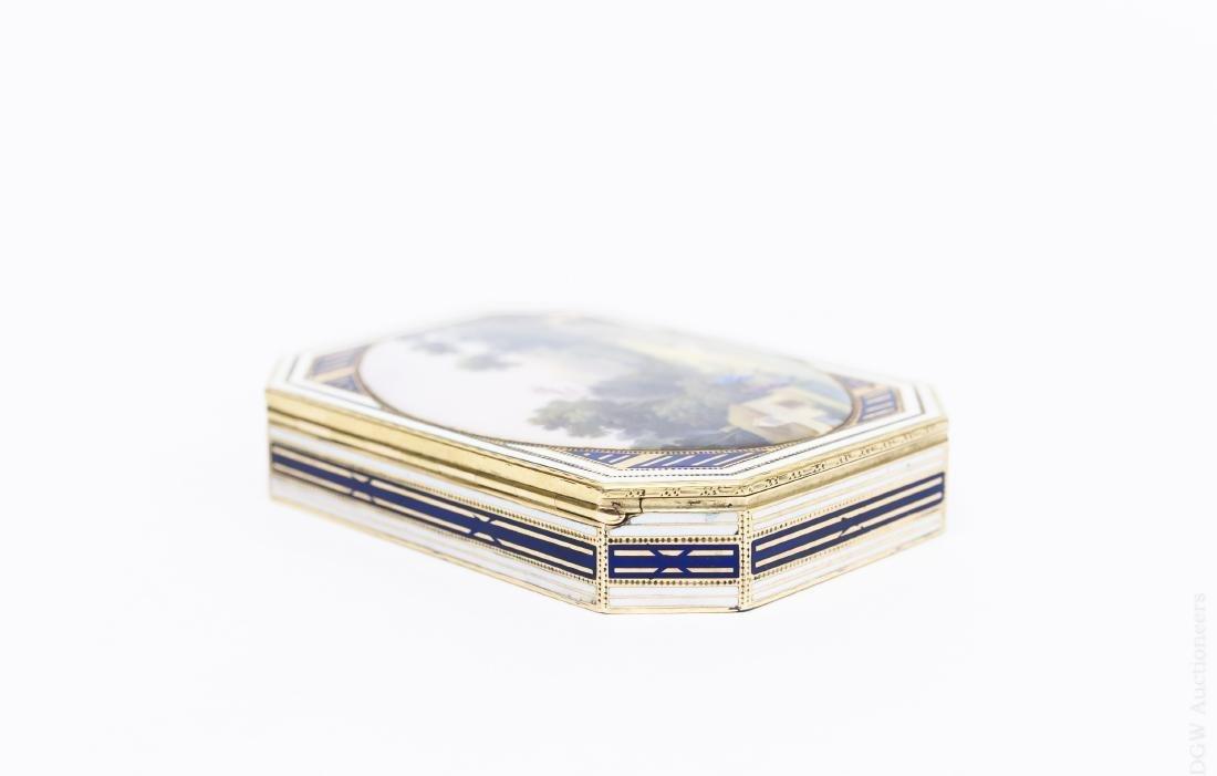 German Gold and Enamel Snuff Box. - 2
