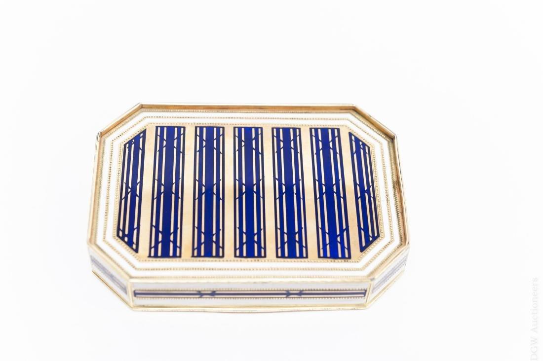 German Gold and Enamel Snuff Box. - 4
