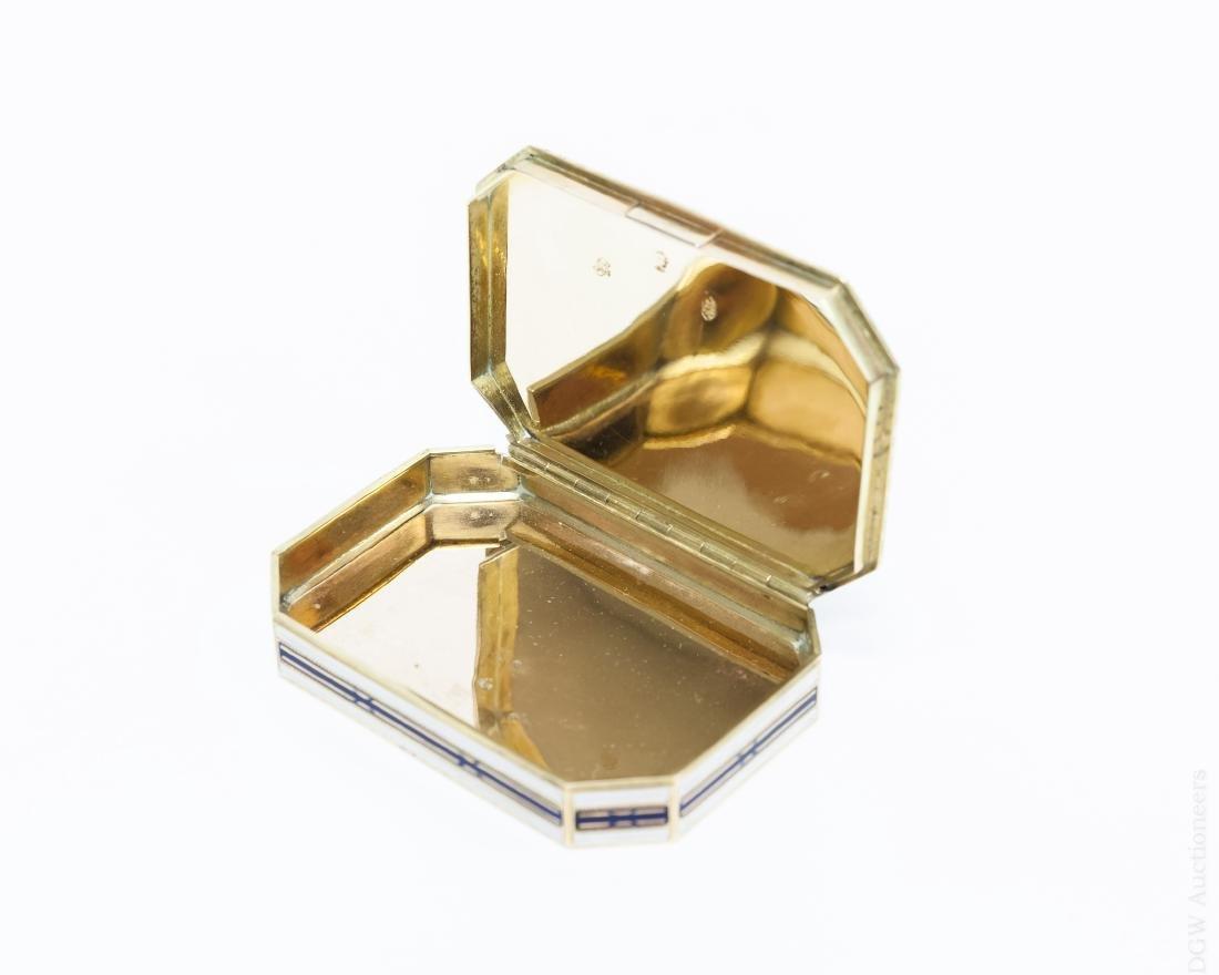 German Gold and Enamel Snuff Box. - 6