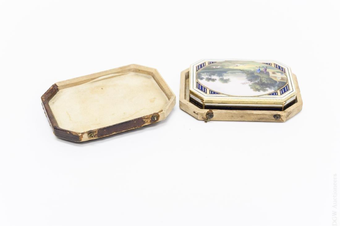 German Gold and Enamel Snuff Box. - 8