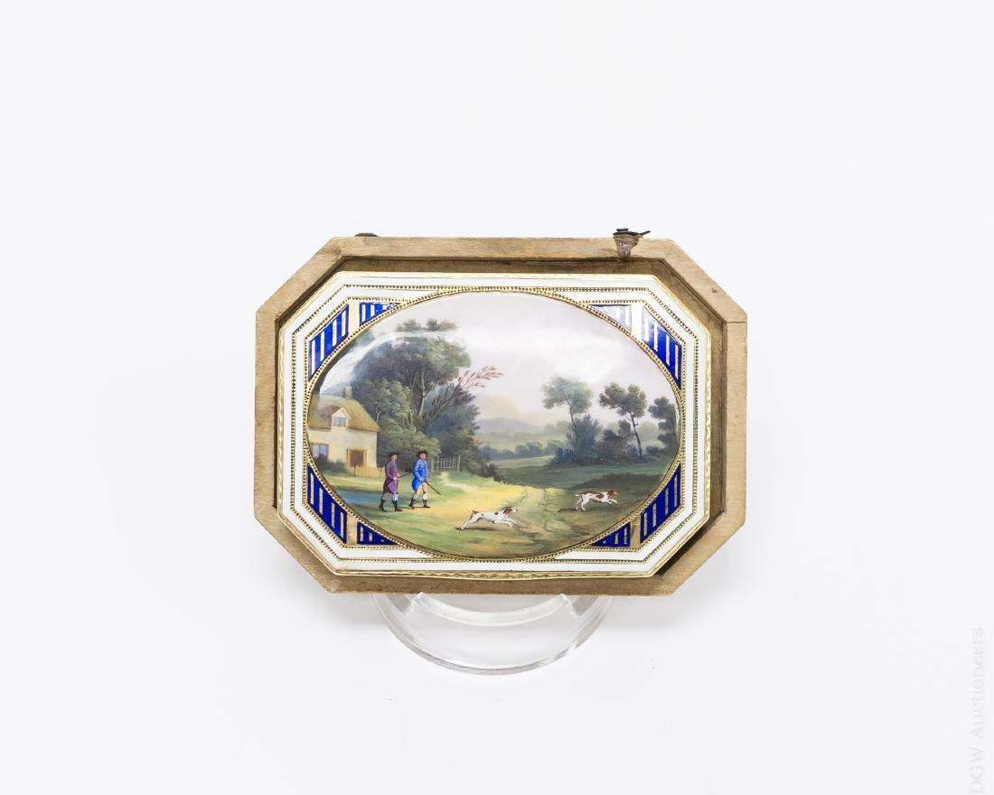 German Gold and Enamel Snuff Box. - 9