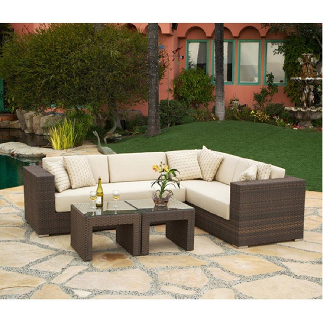 Panorama four Piece Woven Outdoor Sectional Set