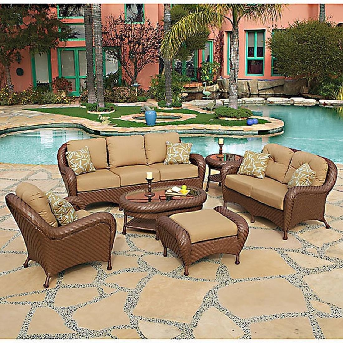 Villanova Woven Outdoor six Piece Seating Set