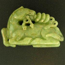Natural Green Jade Statuary
