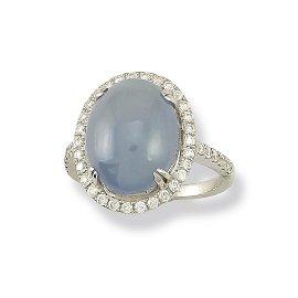 Natural Lavender Jade Ring - Size 7