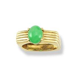 Natural Green Jade Ring Size 6.5