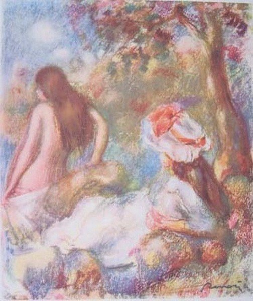 PIERRE AUGUSTE RENOIR BATHING