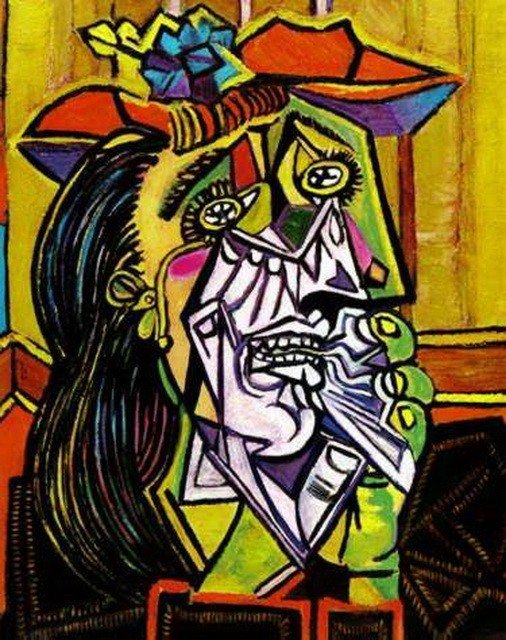 #24 WEEPING WOMAN WITH RED HAT PICASSO ESTATE SIGNED
