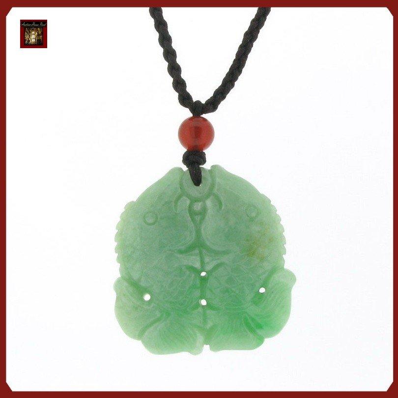 1F: Double Koi Jade Pendant