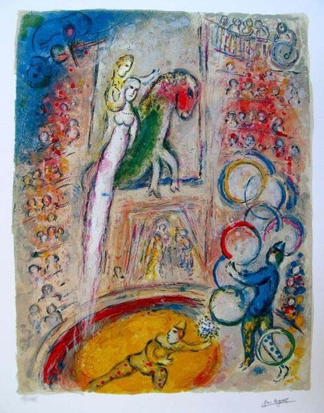 11A: Marc Chagall CIRCUS IV Limited Ed. Small Giclée