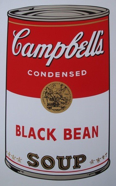 277Y: ANDY WARHOL CAMPBELL'S BLACK BEAN SOUP CAN SERIGR
