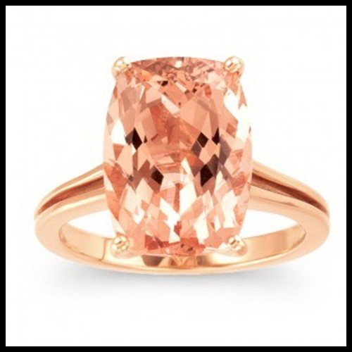913F: 14KT ROSE GOLD AND MORGANITE RING