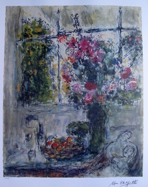 10B: Marc Chagall FRUITS AND FLOWERS Limited Ed. Litho