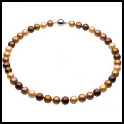 1F: 10-11mm Freshwater Chocolate Pearl Necklace