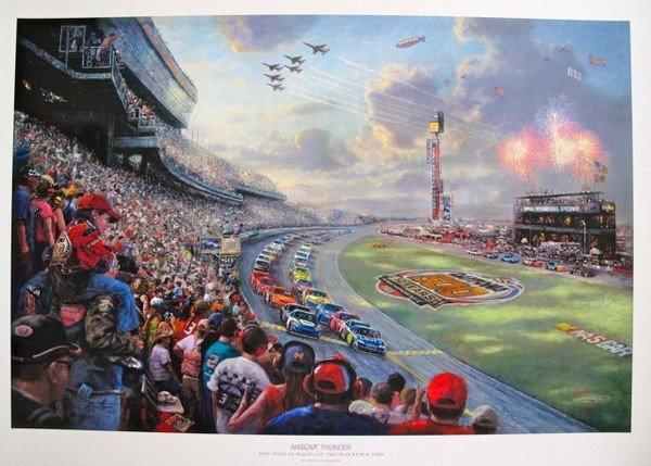 9T: THOMAS KINKADE NASCAR THUNDER HAND SIGNED LIMITED E