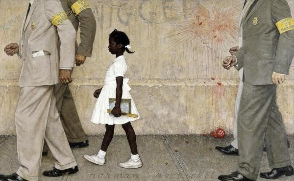 """7G: NORMAN ROCKWELL""""THE PROBLEM WE ALL LIVE WITH"""""""