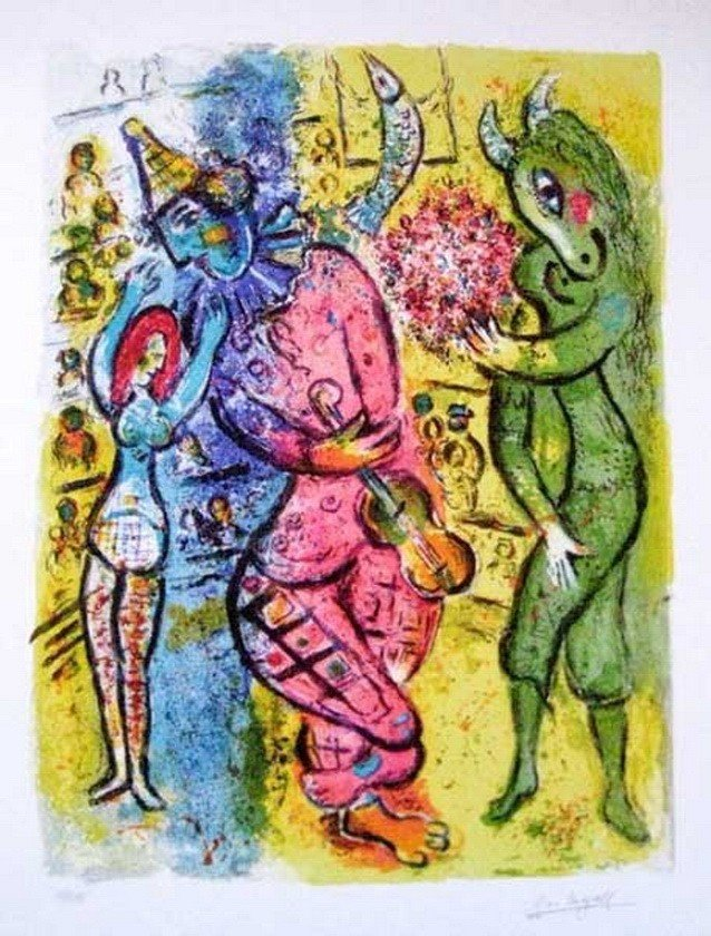 4S: MARC CHAGALL CIRCUS V LIMITED ED. GICLEE