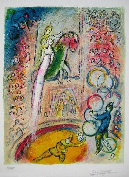 10S: MARC CHAGALL CIRCUS IV LIMITED ED. GICLEE