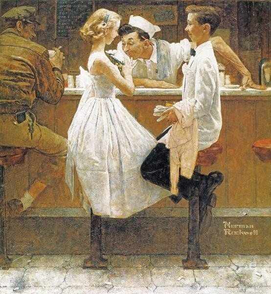 "1G: NORMAN ROCKWELL ""AFTER THE PROM"""