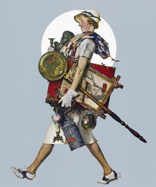 "5G: NORMAN ROCKWELL ""ANTIQUE HUNTER"""