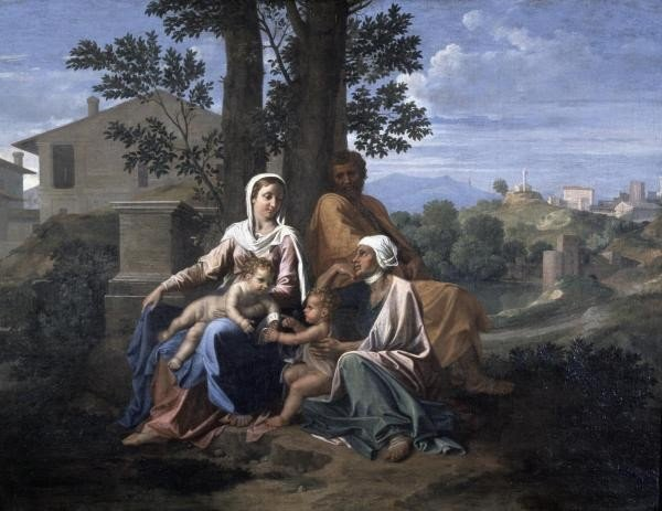"13G: NICOLAS POUSSIN ""HOLY FAMILY IN A LANDSCAPE"""