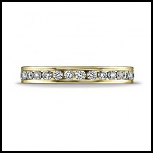 9F: .72CT DIAMOND BAND IN 14KT YELLOW GOLD