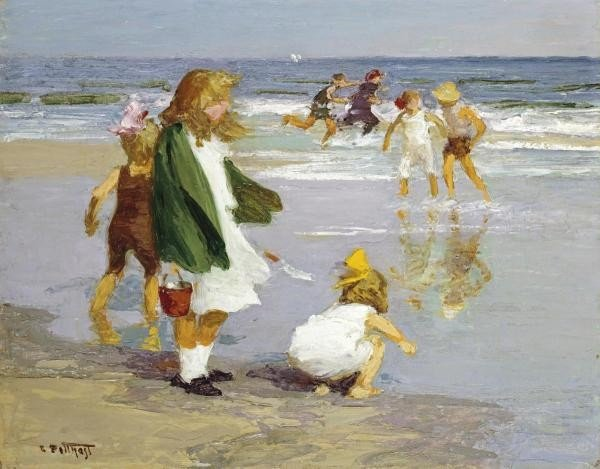 "6G: EDWARD HENRY POTTHAST ""PLAY IN THE SURF"""