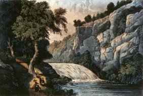 "11G: CURRIER AND IVES ""TALLULAH FALLS - GEORGIA"""