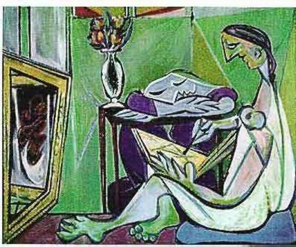 10T: #140 WOMAN DRAWING BEFORE A MIRROR PICASSO ESTATE