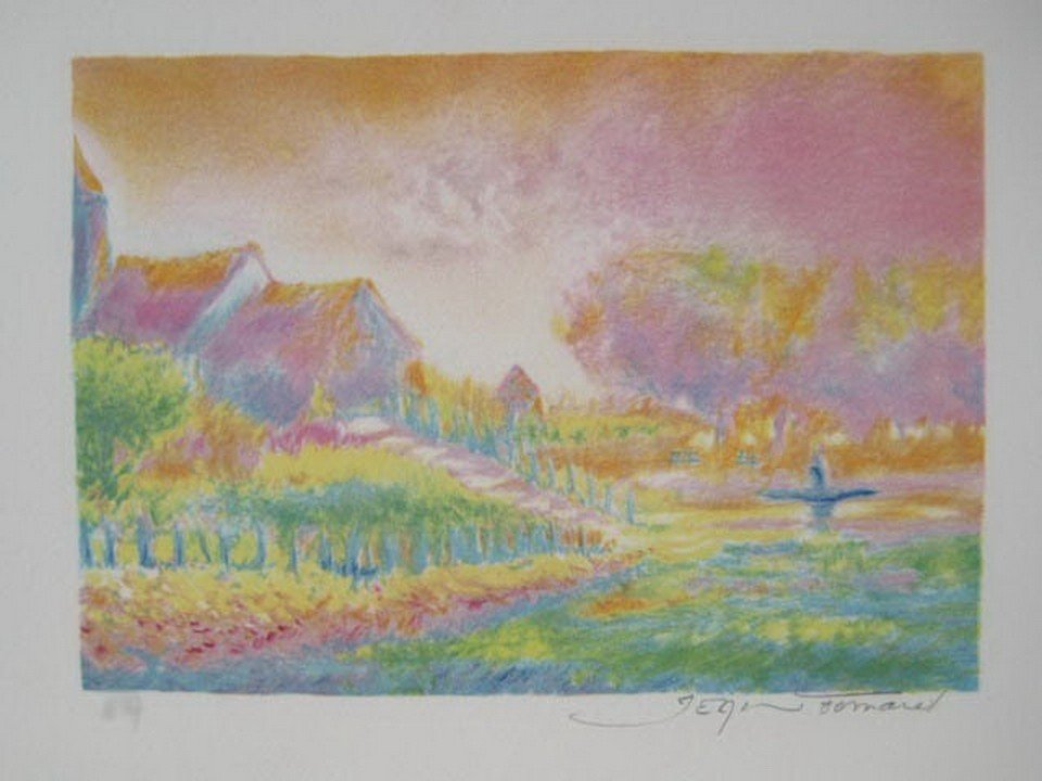 13T: JEAN FERNAND SOLEIL LEVANT VI HAND SIGNED LITHOGRA