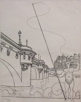 ANDRE DERAIN LE PONT NEUF RESTRIKE ETCHING