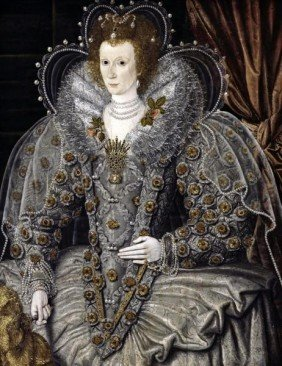 "1G: 16TH CENTURY ENGLISH SCHOOL""QUEEN ELIZABETH OF ENGL"