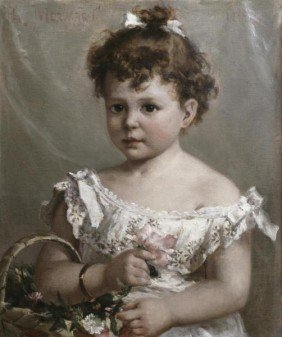"9G: PAUL MERWART""HELENE LOEB LYON AS A YOUNG GIRL"""