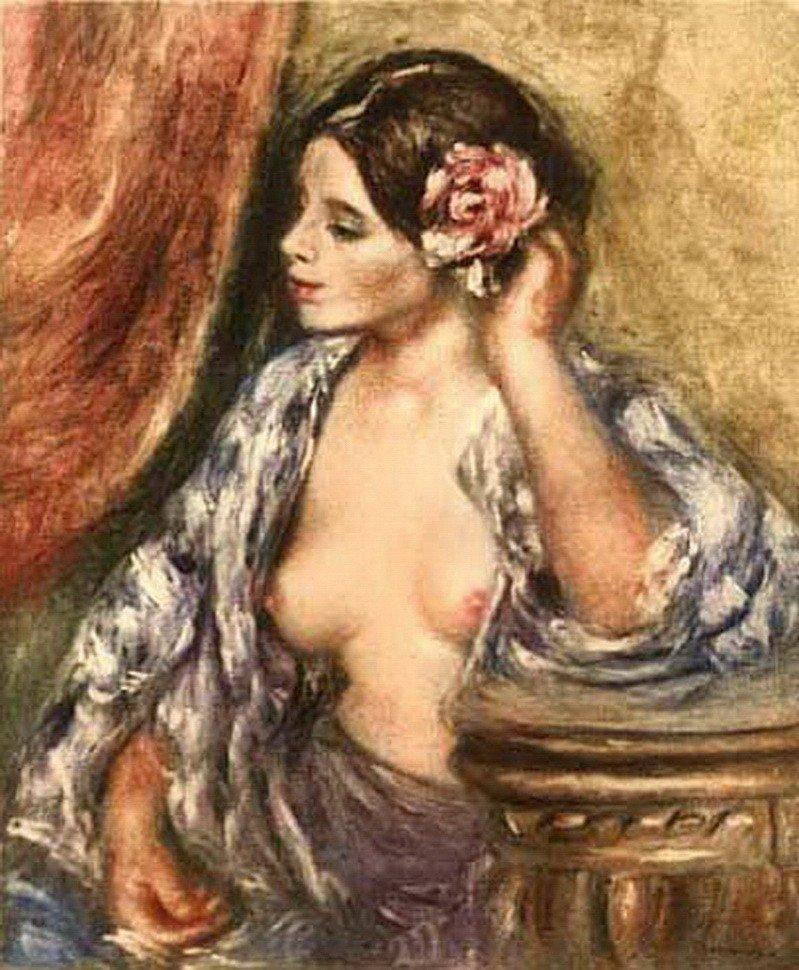 1S: PIERRE-AUGUSTE RENOIR FEMME A SA COIFFURE AMBROIS