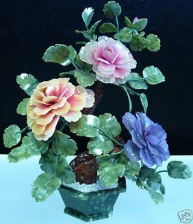 1J: REAL JADE MIXED BONSAI FLOWER