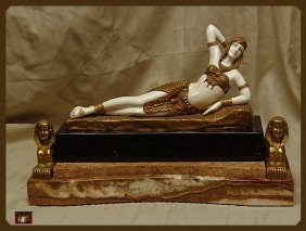 10D: Chiparus  Bronze And Ivory Sculpture