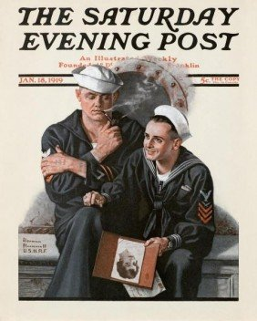"NORMAN ROCKWELL ""THINKING OF THE GIRL BACK HOME"""